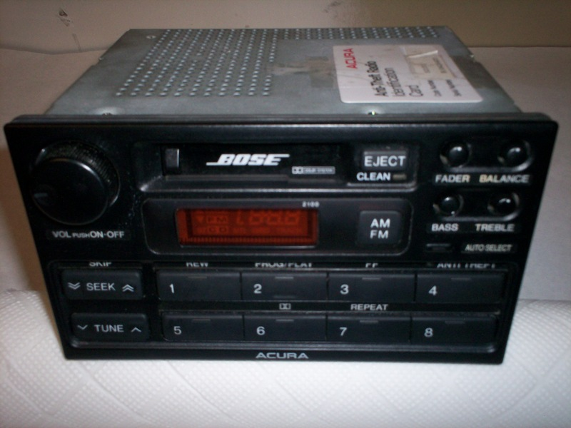 Legend Bose Radio With Security Code - Acura legend radio